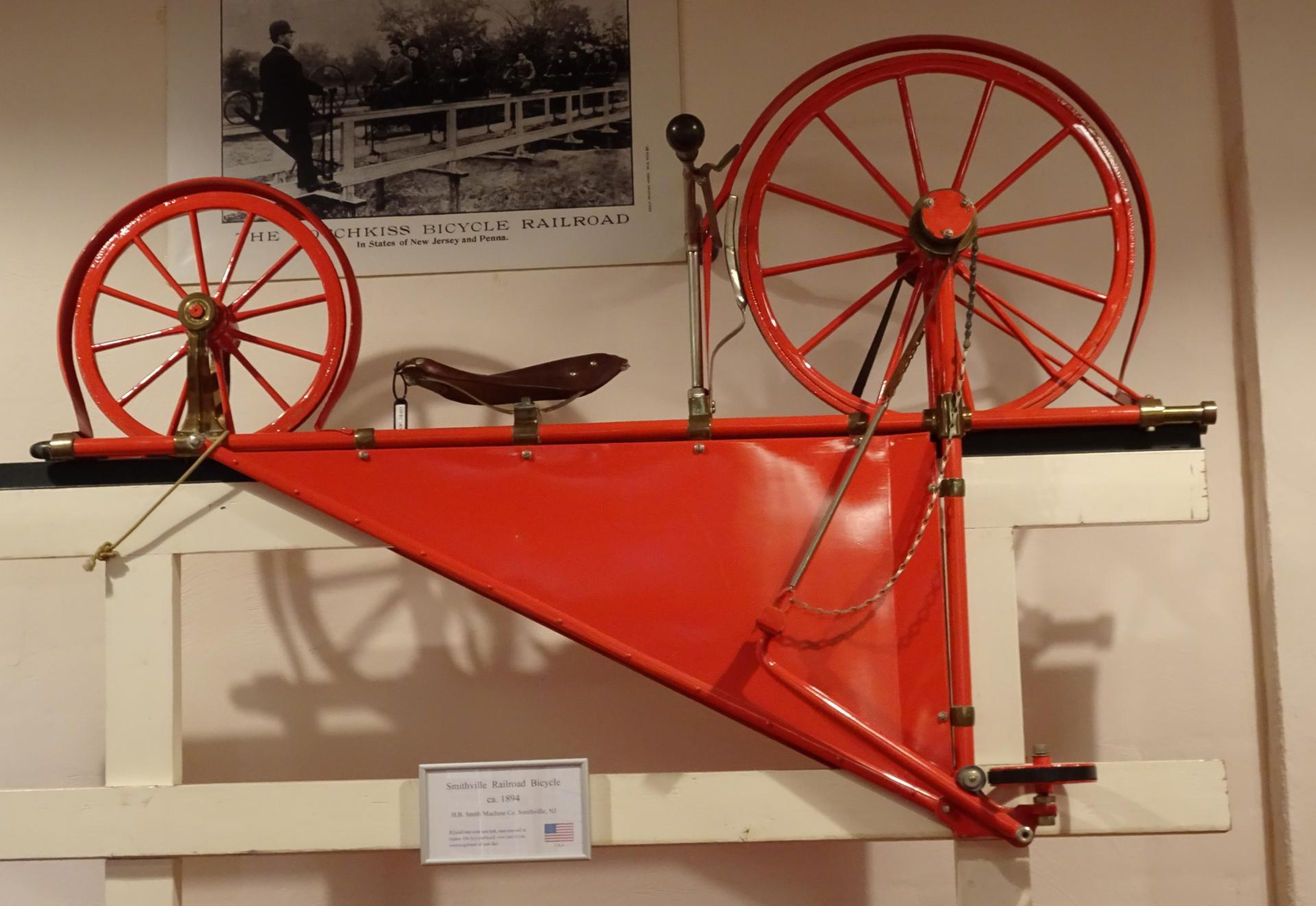 Smithville 1894  Railroad bicycle