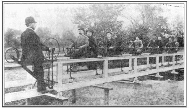 The Hotchkiss bicycle railroad
